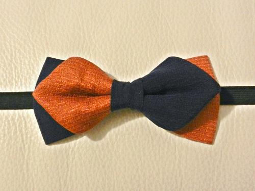 Seta Arancione-Blu forma Rombo-1