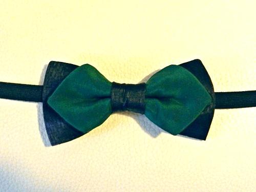 Seta Verde scuro fondo Nero-1