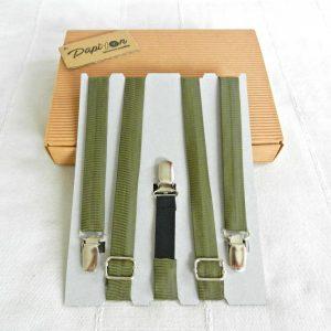 Bretelle Verde militare - Pezzi Unici1