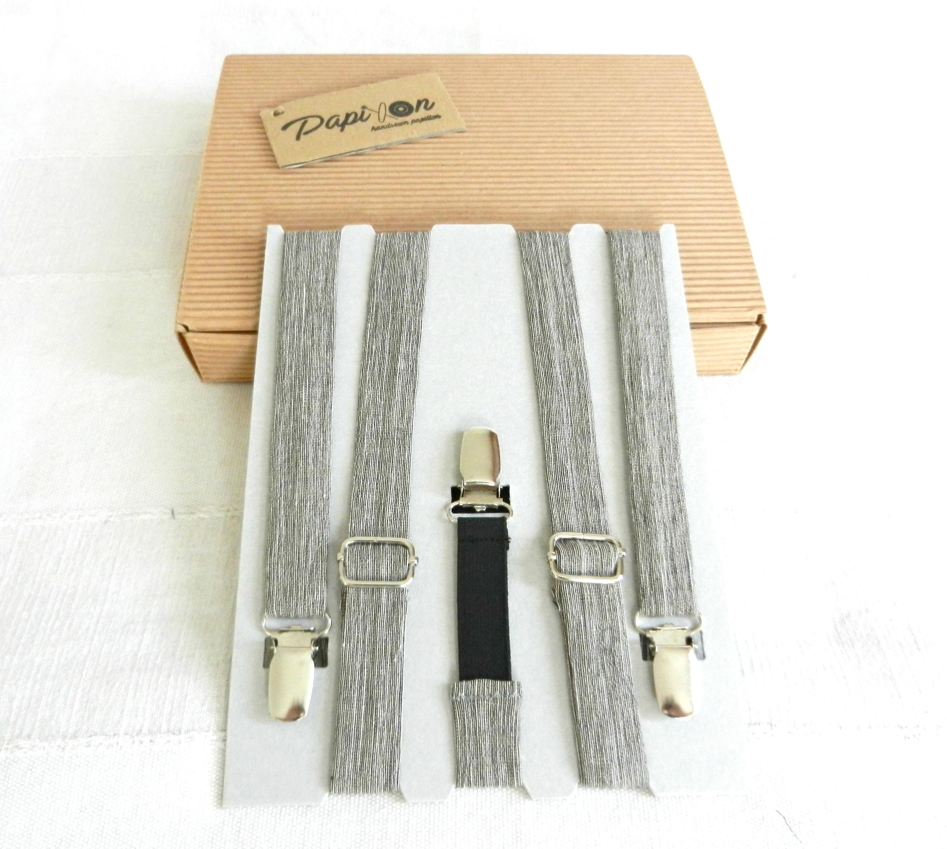 Bretelle Bianco, Grigio scuro- Pezzi Unici