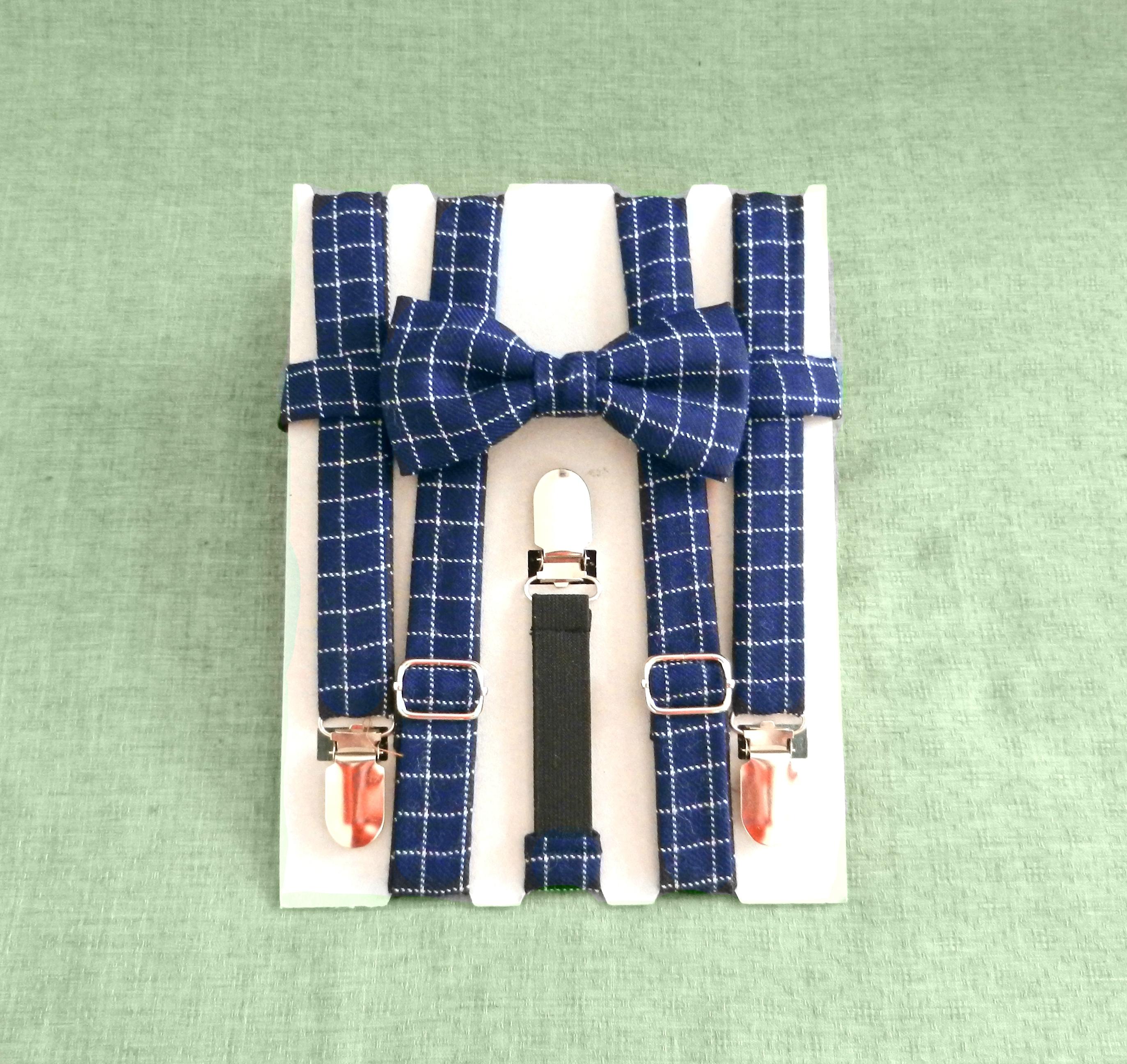 Bretelle quadrati Blu, Bianco - Pezzi Unici2