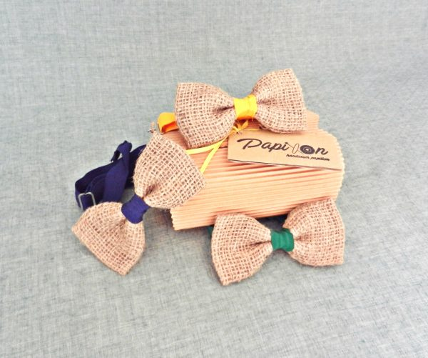 Papillon Juta cordino in 3 Colori - Pezzi Unici
