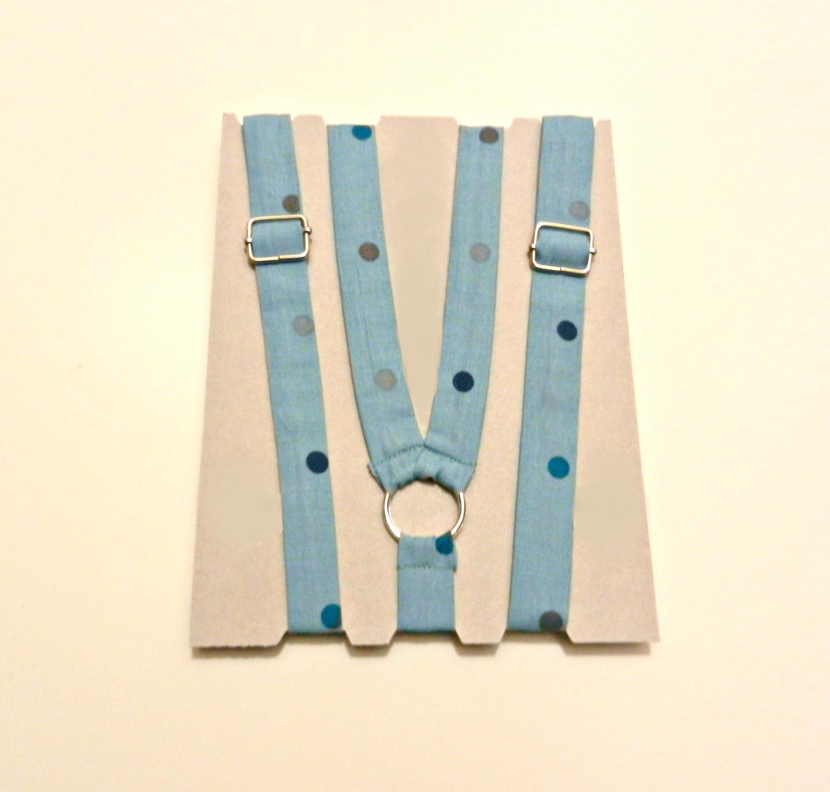 Bretelle KIDS Azzurro polvere Pois colorati - Pezzi Unici3