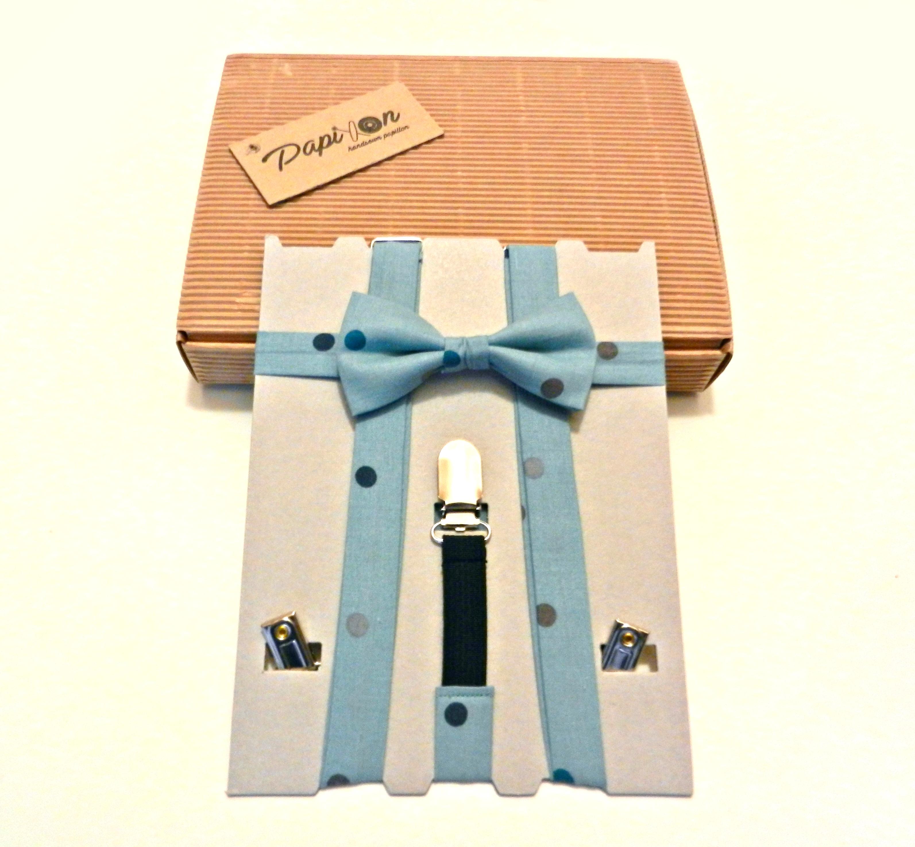 Bretelle KIDS Azzurro polvere Pois colorati - Pezzi Unici4