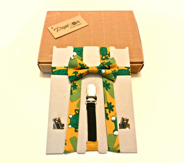 Bretelle KIDS Giallo, Verde con Rane5