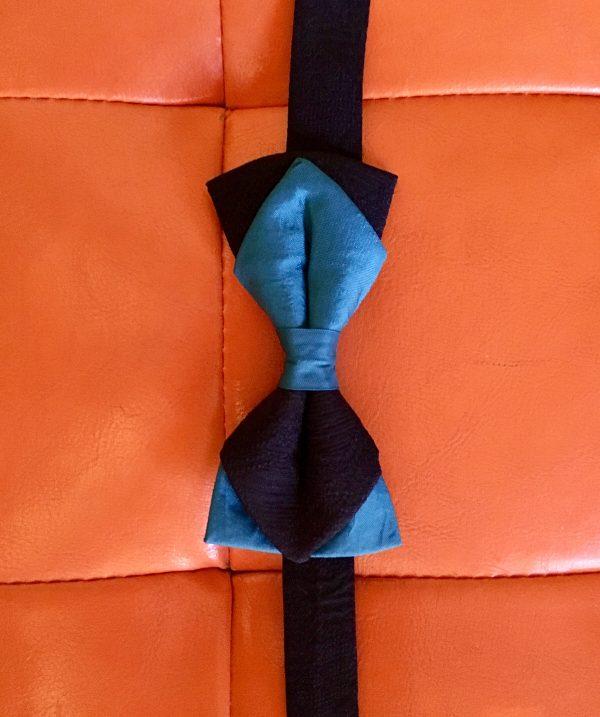 Papillon Seta doppia faccia Blu e Nero - Pezzi Unici1