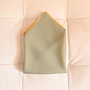 Pochette Seta Verde salvia, Giallo camomilla con Alette - Pezzi Unici