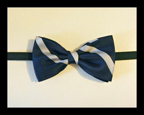 Seta Blu - Strisce Bianche - Pezzi Unici-1