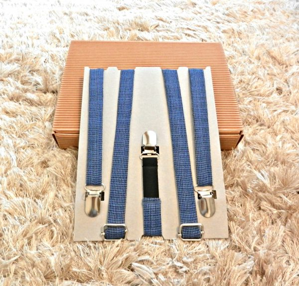 Bretelle quadratini Blu-Nero - Pezzi Unici