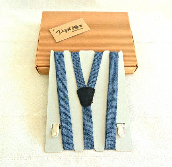 Bretelle quadratini Blu-Nero - Pezzi Unici2
