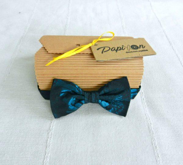 Papillon Fantasia Blu e Nera - Pezzi Unici1