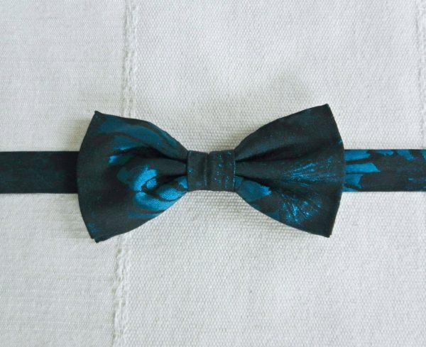 Papillon Fantasia Blu e Nera - Pezzi Unici2