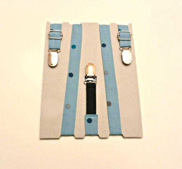 Bretelle KIDS Azzurro polvere Pois colorati - Pezzi Unici2