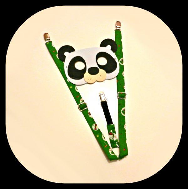 Bretelle Kids Verde con Farfalle4