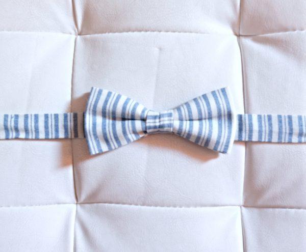 Papillon righe Azzurre, Bianche - Pezzi Unici1