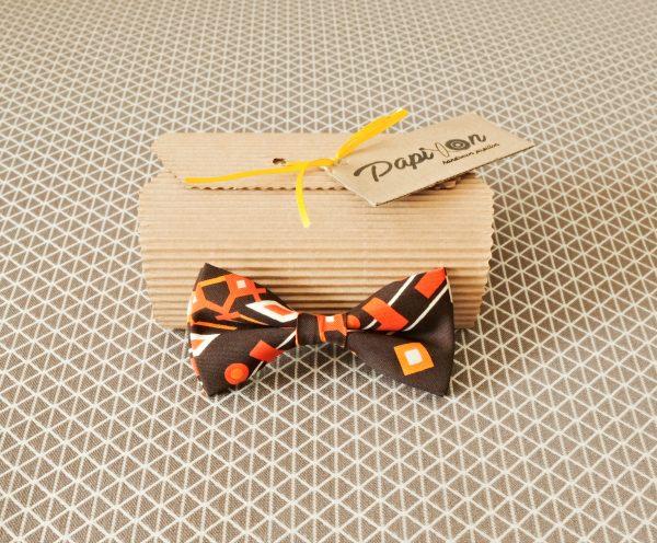 Papillon Marrone fantasia Giallo, Arancione, Bianco - Pezzi Unici