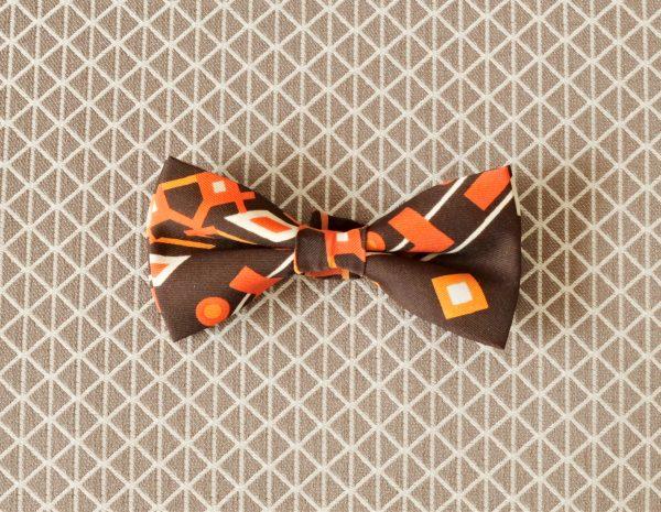 Papillon Marrone fantasia Giallo, Arancione, Bianco - Pezzi Unici2